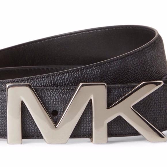 8dbb659d8e882 NWT Mens Michael Kors Jetset Monogram Logo MK Belt